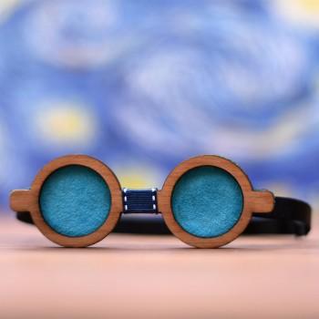 Ξύλινο παπιγιόν γυαλιά