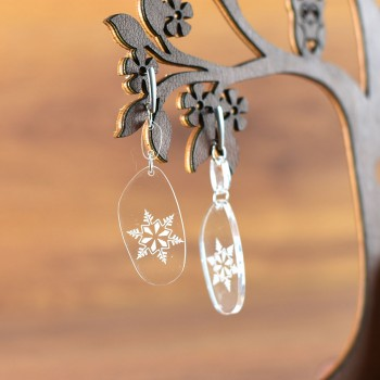 Σκουλαρίκια Snowflake