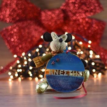 Ξύλινη Χριστουγεννιάτικη Μπάλα Ανέστης