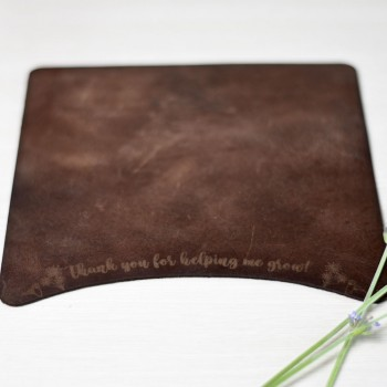 Leather mouse pad with dedication gift for teacher-teacher