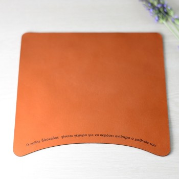 Leather mouse pad personalized gift for teacher