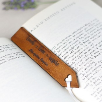 Leather bookmark with personal dedication gift for teacher-teacher 3