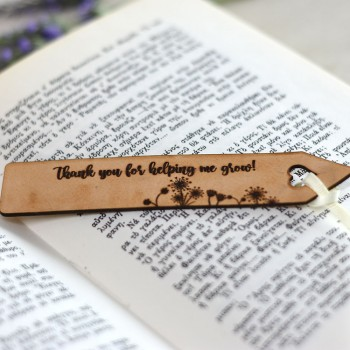 Leather bookmark personalized gift for teacher 1