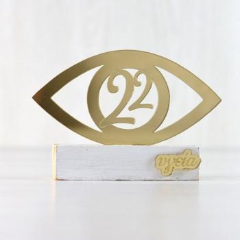 Charm 22 table Gold Eye