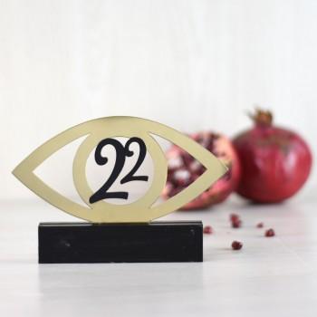 Charm 22 table Eye black