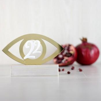 Charm 22 table Eye Gold&White