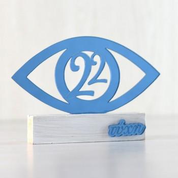 Charm 22 table Eye Blue