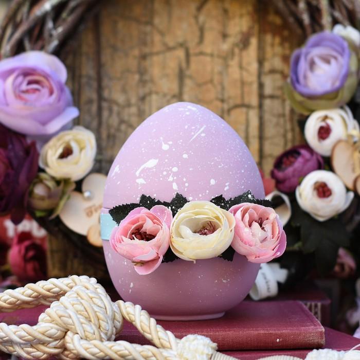 Παστέλ ροζ αυγό κεραμικό ανοιγόμενο