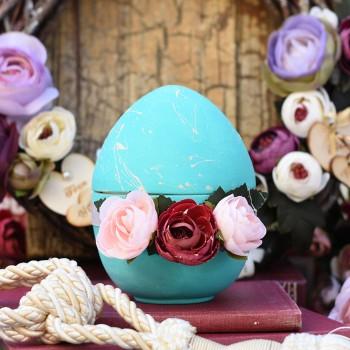 Τυρκουάζ αυγό κεραμικό ανοιγόμενο