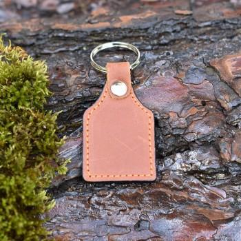Custom leather square keychain