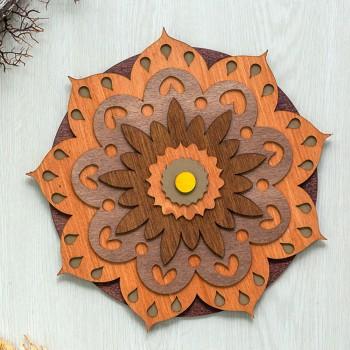 Ξύλινο διακοσμητικό Mandala 7επιπ.