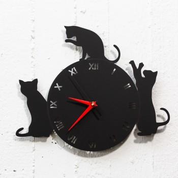 Clock The cats