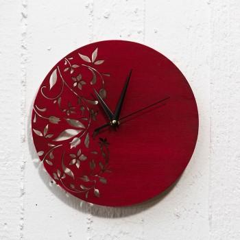 Wooden clock flower