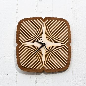 Ξύλινο ρολόι διπλό Ilusion