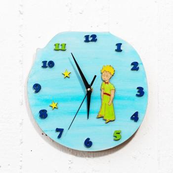 Ξύλινο ρολόι Little Prince γαλάζιο