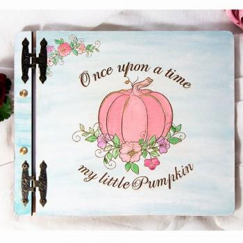 Ξύλινο βιβλίο ευχών Pumpkin