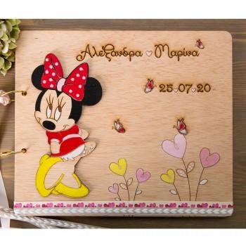 Ξύλινο βιβλίο ευχών Minnie