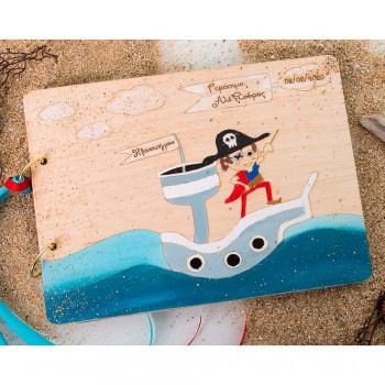 Ξύλινο βιβλίο ευχών The Pirate