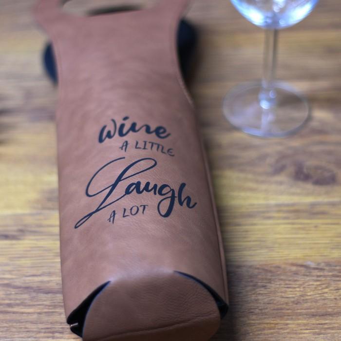 Δερμάτινη θήκη κρασιού
